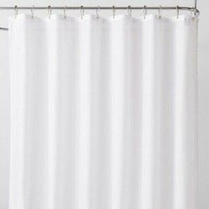 "Made By Design Fabric Shower Liner White 71""x71"""